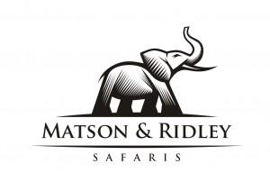 Matson & Ridley Safaris Logo 14 B-W rgb