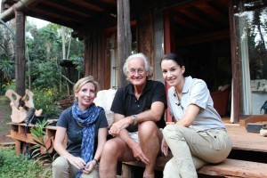 Tammie & Nadya chat with elephant great, Iain Douglas -Hamilton at his home in Nairobi