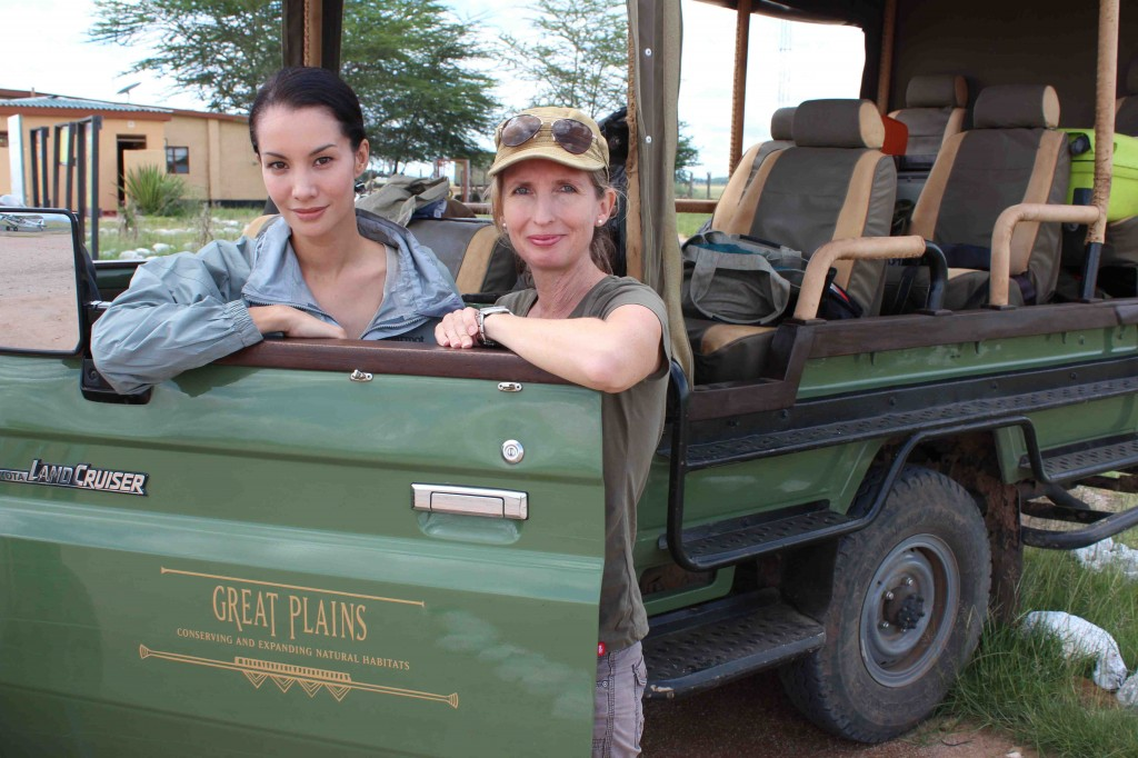 Nadya & I in Amboseli National Park, home of elephants