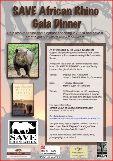 SAVE rhino night invite