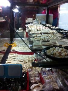 Ivory on sale in Chutachuk market, Bangkok, July 2013