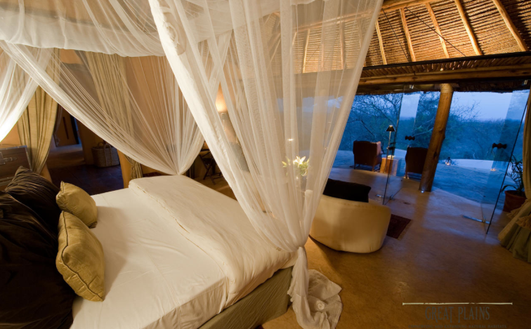 Luxury accommodation, Ol Donyo Lodge