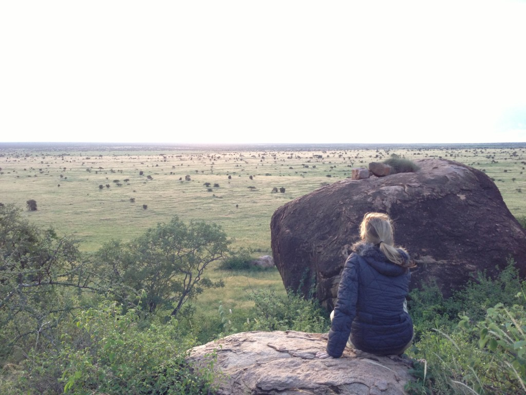 The author overlooking the plains of Chyulu Hills, Kenya (Photo: Nadya Hutagalung)