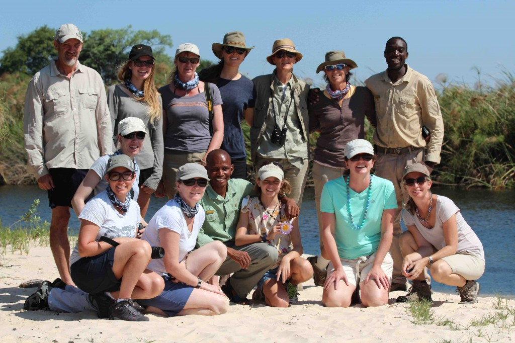 The Okavango adventurers!  What an awesome bunch of people to spend time in Africa with, including 13 year old Alice, an aspiring zoologist