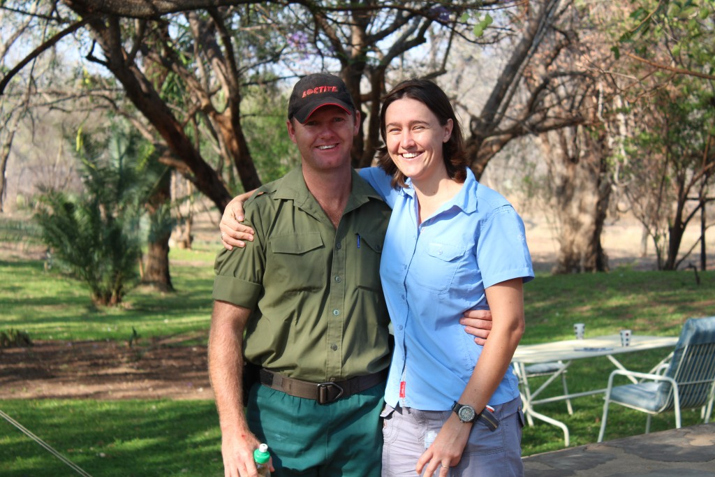 Bryce and Lara Clemence, the young couple who head up Aggressive Tracking Specialists, Save Valley Conservancy, Zimbabwe, on the front line of Africa's war on rhino poachers