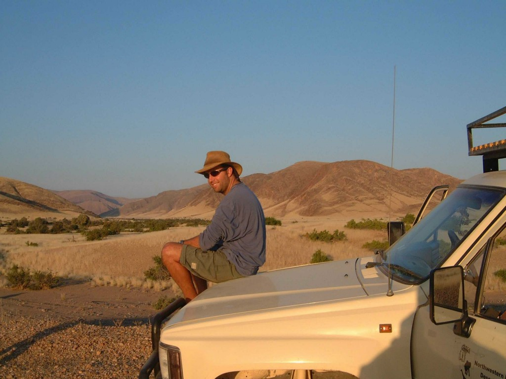 Giraffe conservationist Julian Fennessy at home in Namibia