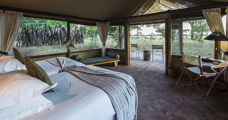 Little Makololo camp - beautiful tented rooms make you feel like you're on an old world safari in wildest Africa