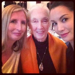 Me and Nadya with the indefatigable Jane Goodall