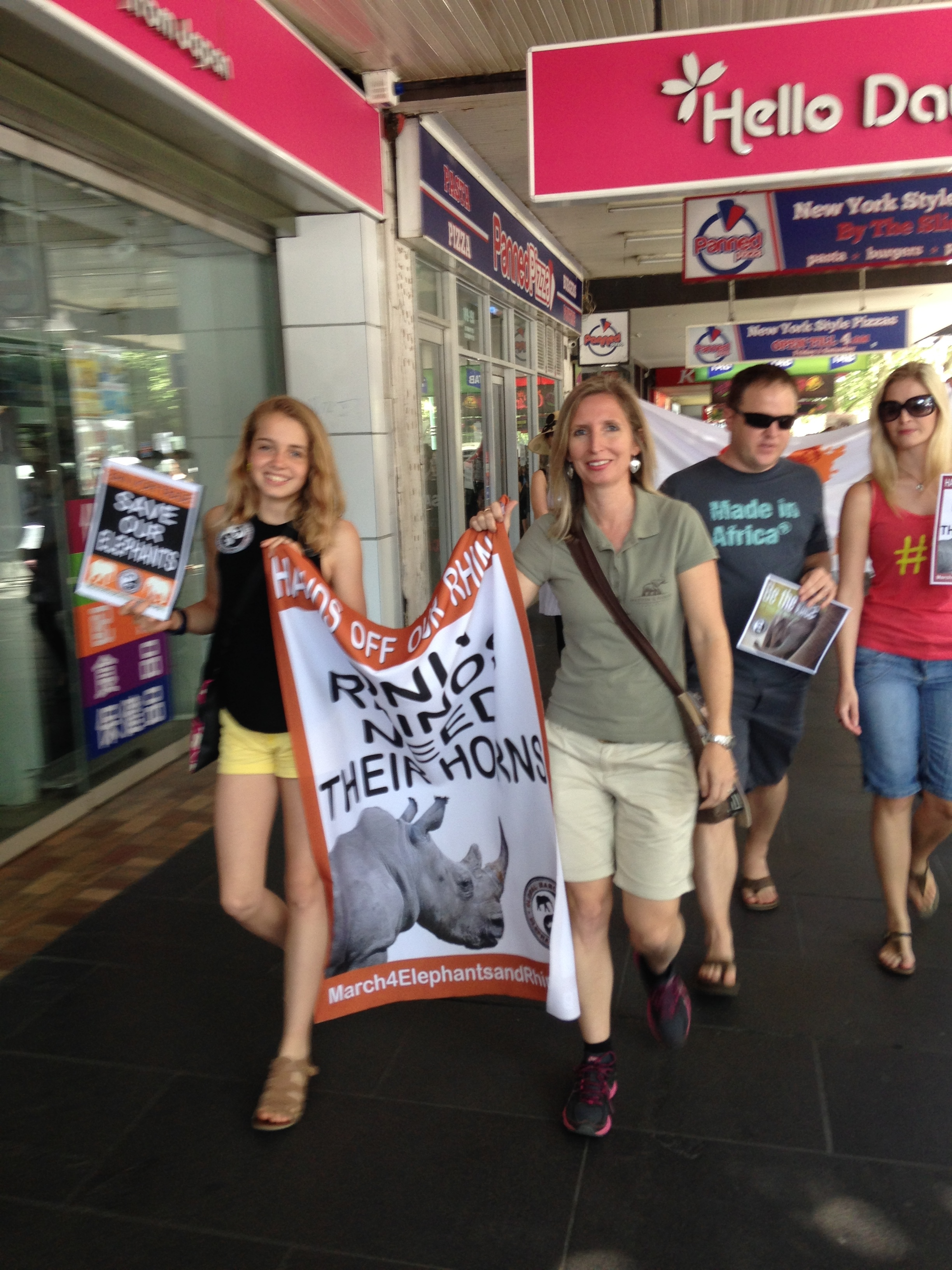 With 14 year old Alice Bertram, who joined me as a speaker at the Melbourne March For Elephants and Rhinos on 4th October