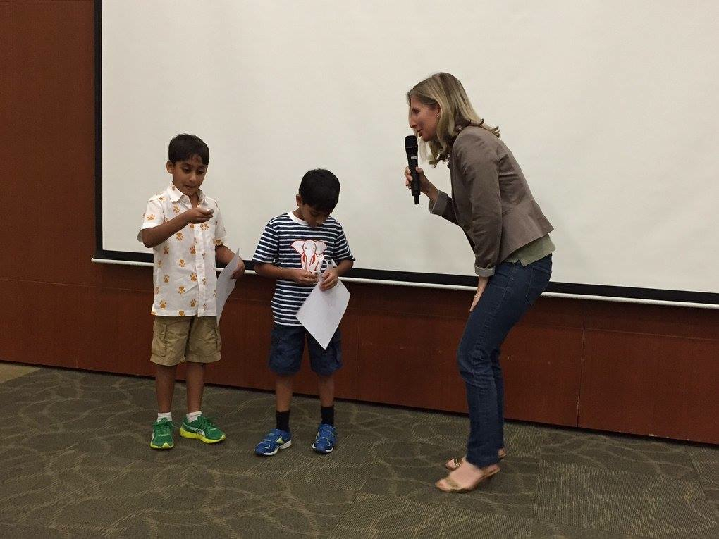Sammy (right) and his brother Vijay, with me after my talk in Singapore. These boys are real conservationists in the making!