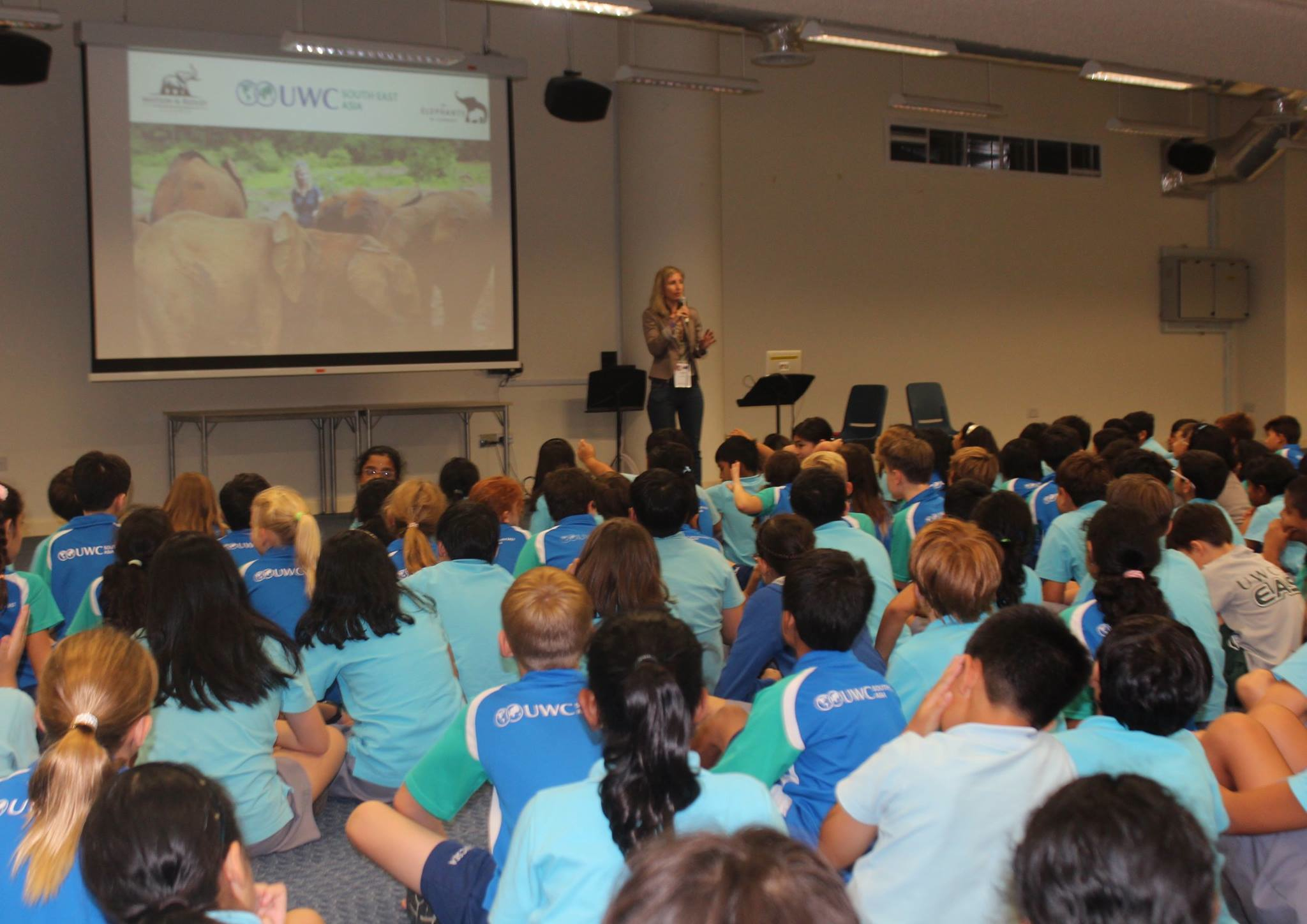 Speaking to Grade 4s at United World College, Singapore