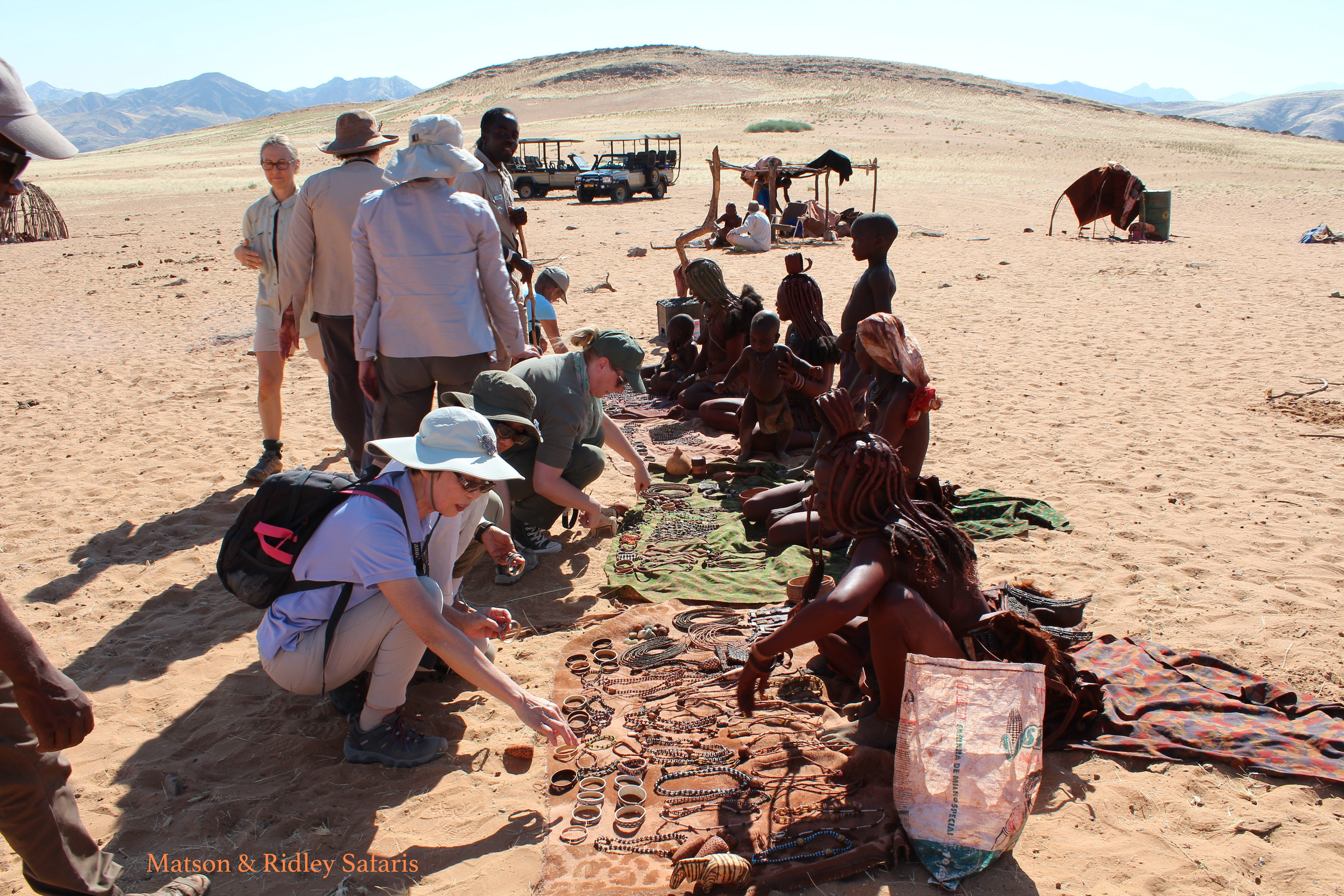The Himba women seemed thrilled to be able to sel