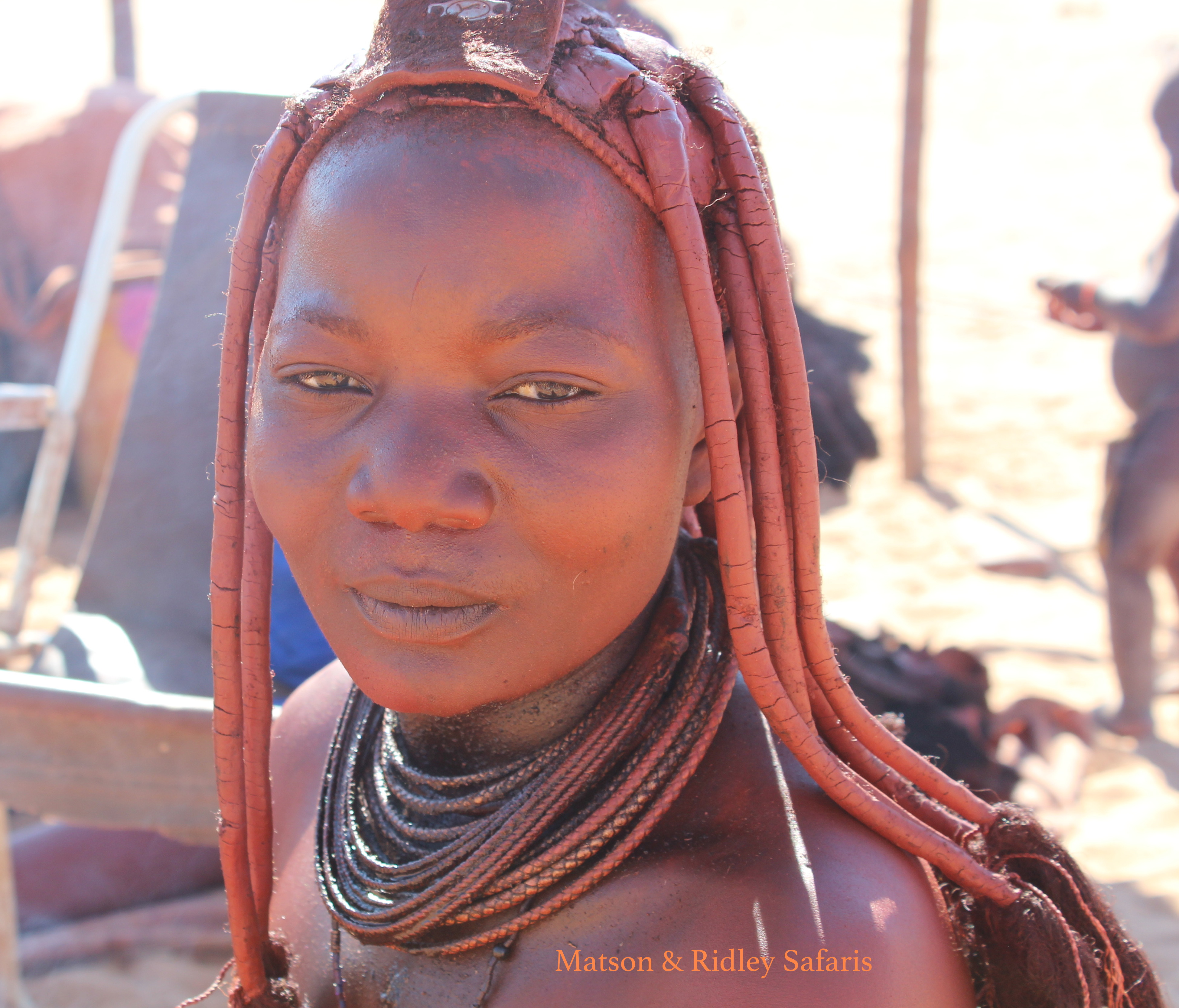 Women in Himba culture wear a specia